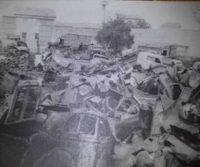 Chatarras Clemente de Albacete en los años 60 en el barrio vereda de jaen
