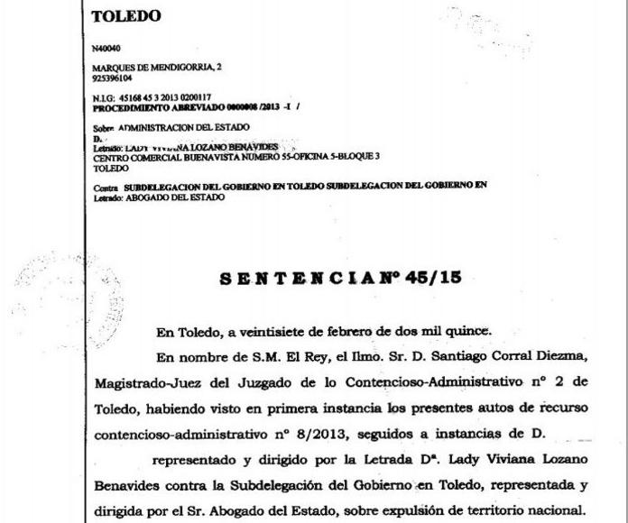 Recurso estimado de expulsión sustituida por multa: Áreas Profesionales de Vizano Abogados