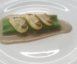 Canelones vegetales con setas y crema del Restaurant L'Auro