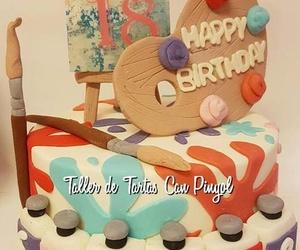 Tarta personalizada cumpleaños 18 años