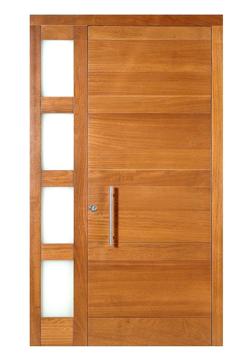 Puerta exterior madera moderna mod 228 carpinter a for Puertas de madera exterior