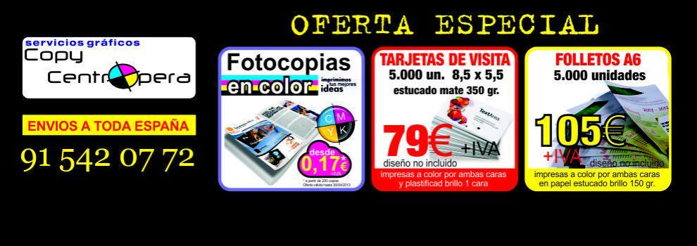 Imprentas en Madrid | Copy Centro Ópera | Fotocopias baratas | Puerta del Sol