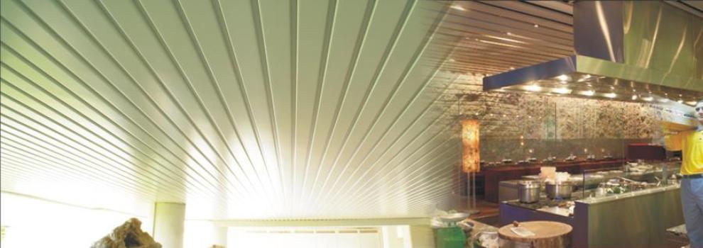 Falso techo de lamas de aluminio | Diluvid
