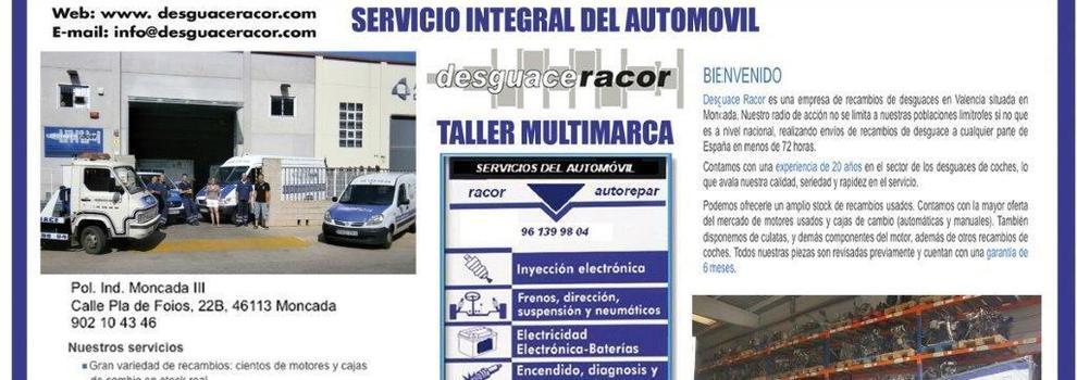 Piezas de desguace en Valencia | Desguaces Racor