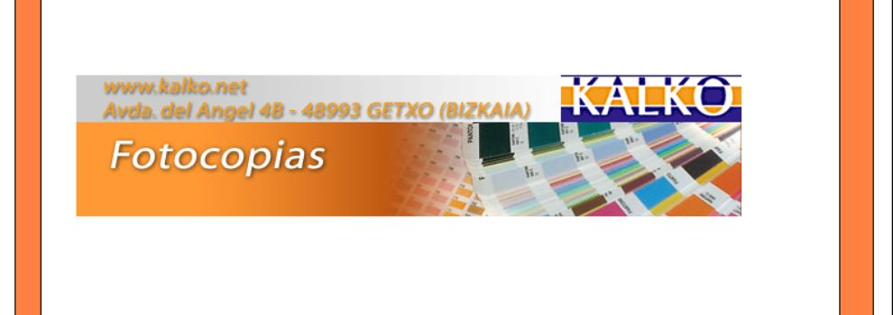 Imprentas en Getxo | Kalko