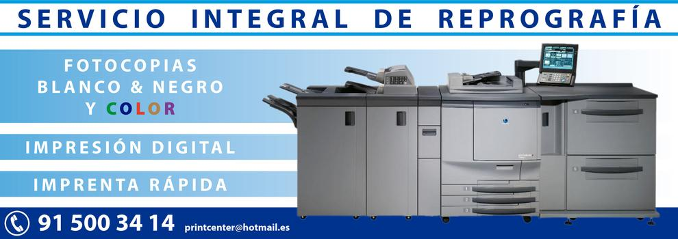 Impresión digital centro Madrid