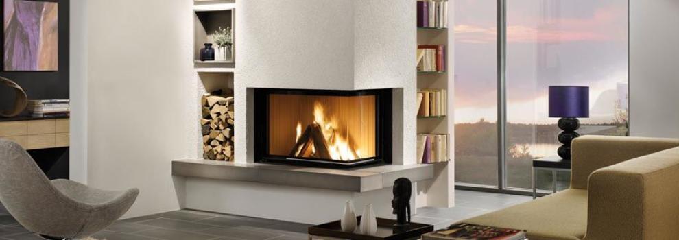 Estufas y chimeneas en valencia chimeneas hergar for Chimeneas lena modernas