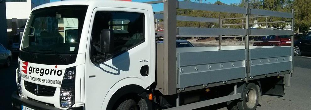Alquiler de camiones en Murcia   Gregorio Alquiler de Furgonetas Sin Conductor