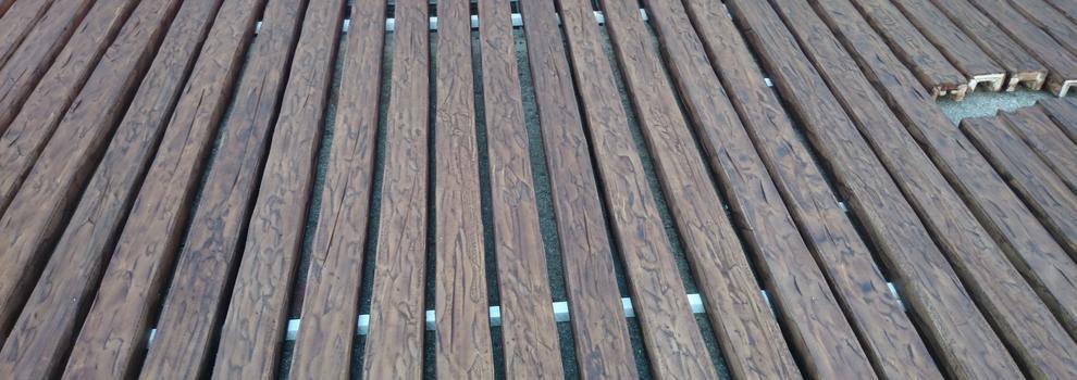 Vigas de imitación de madera
