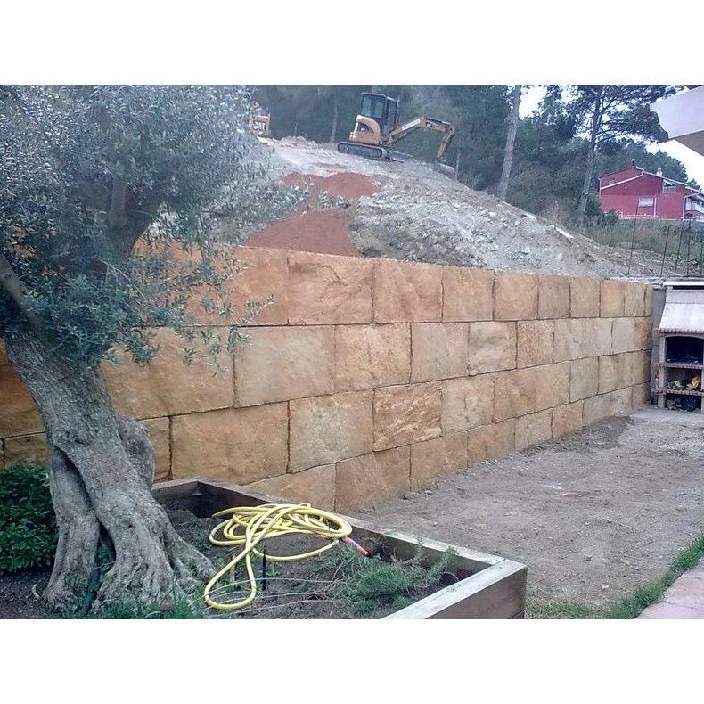 Muros de bloques tipo escollera servicios de ecepa s l - Muro de bloques ...