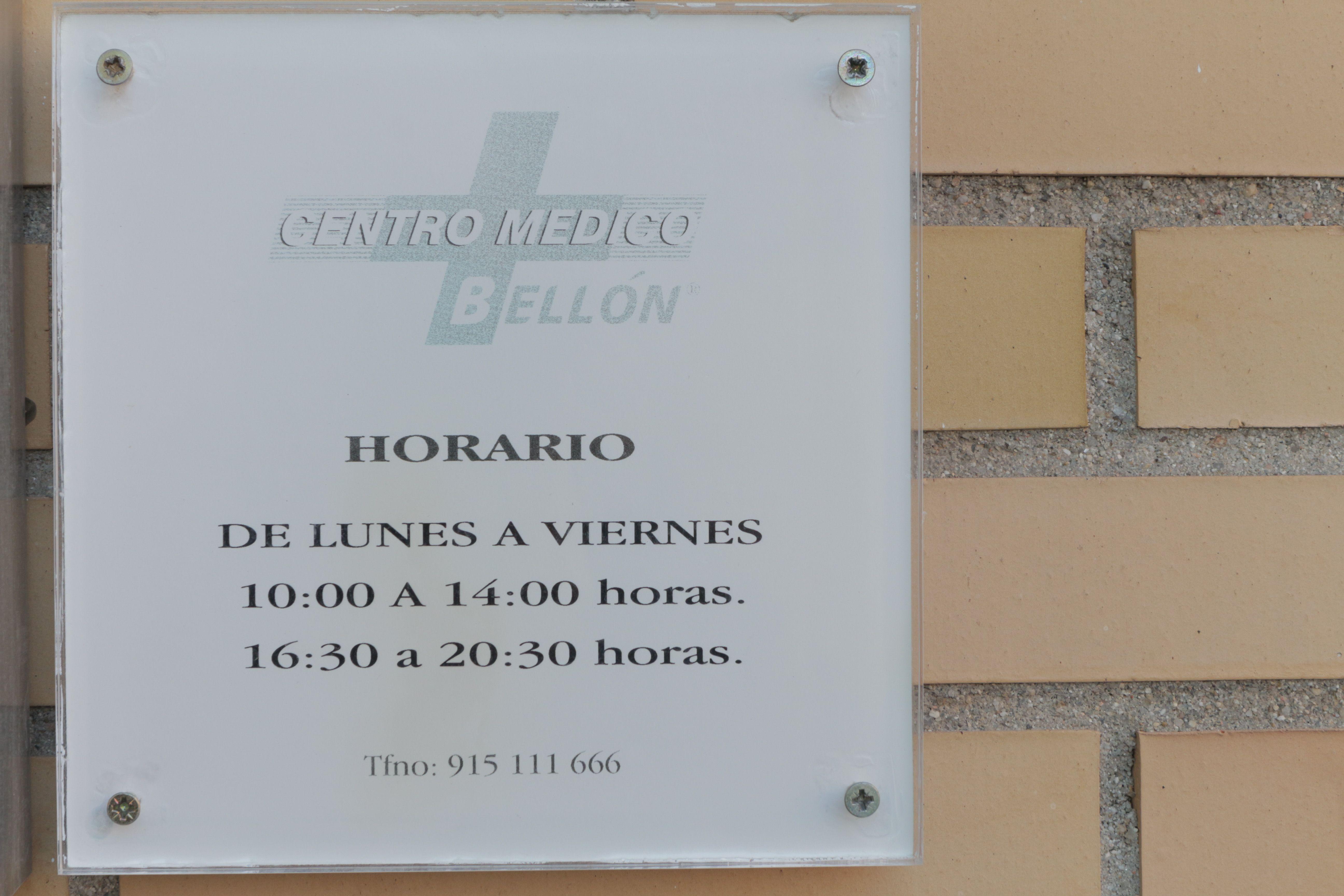 Foto 1 de Centro médico en Madrid | Centro Médico Bellón