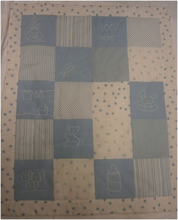Colcha de beb de patchwork patrones cat logo de planas - Patrones para colchas de patchwork ...
