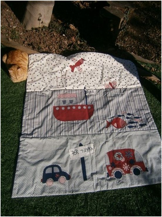 Colcha de cama ni o tierra mar y aire de patchwork - Patrones colchas patchwork ...