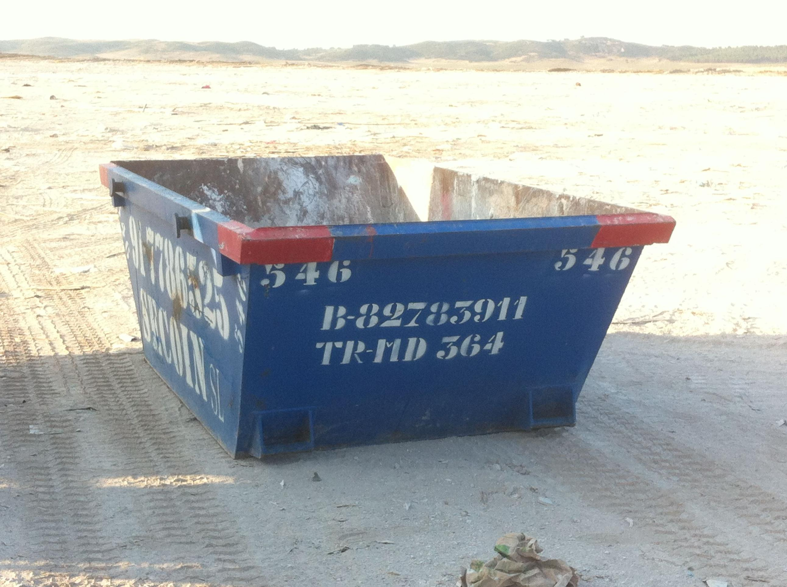 Contenedor para escombros