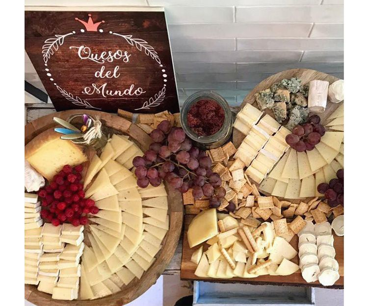 Tabla de quesos para nuestro catering