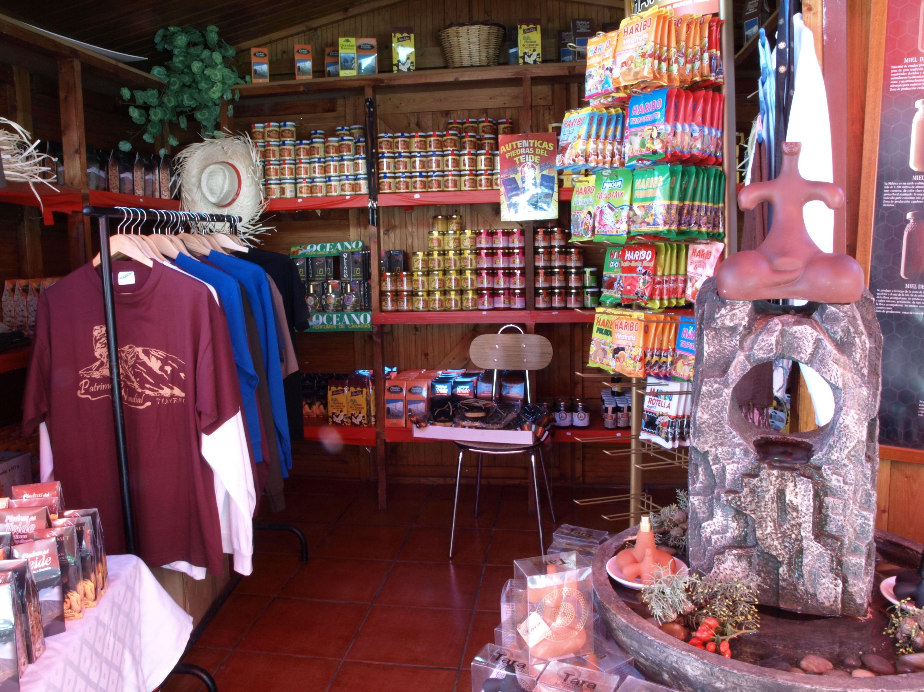 Artículos de recuerdo en el restaurante El Portillo
