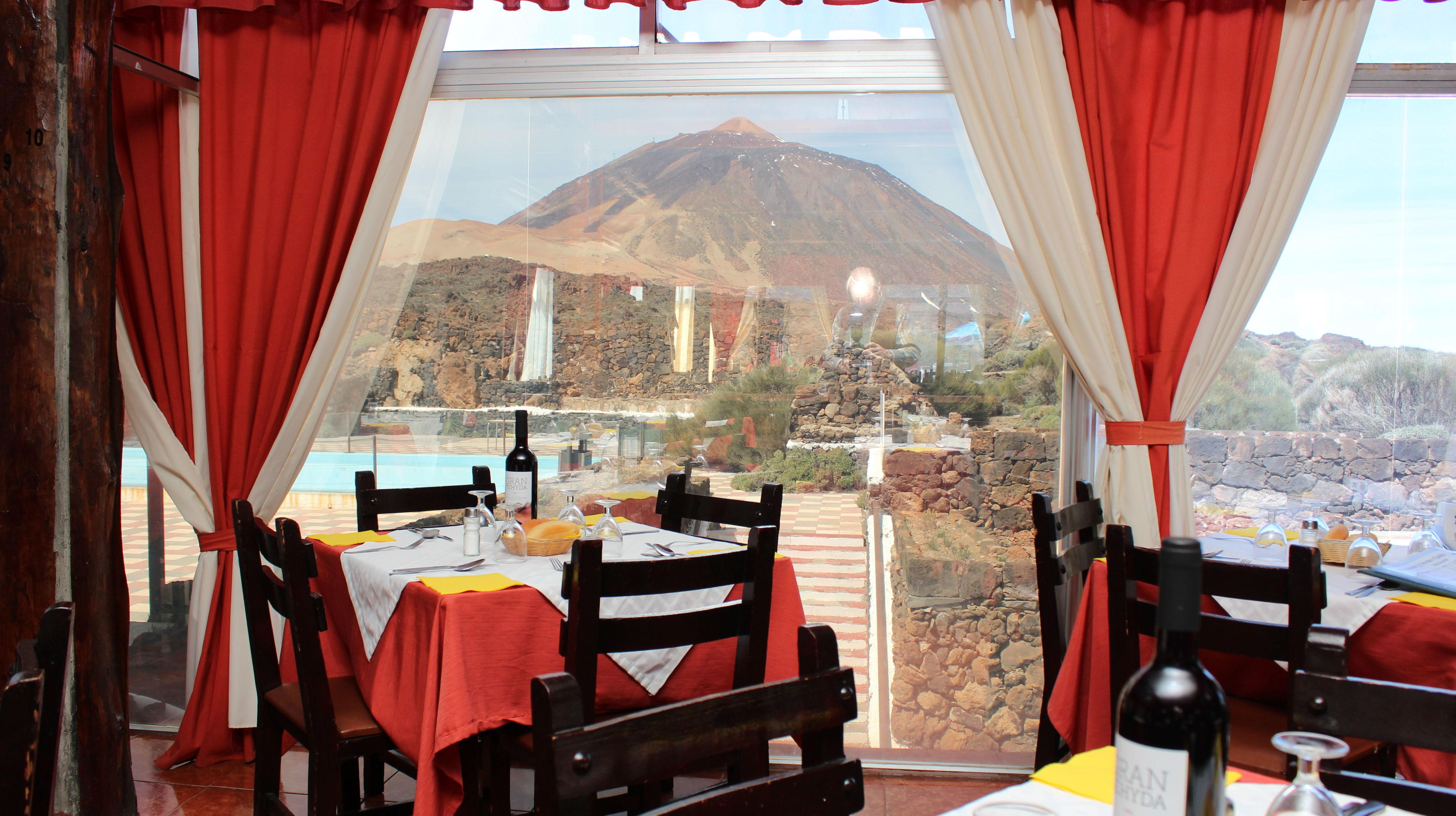 Vista del Teide desde nuestras mesas