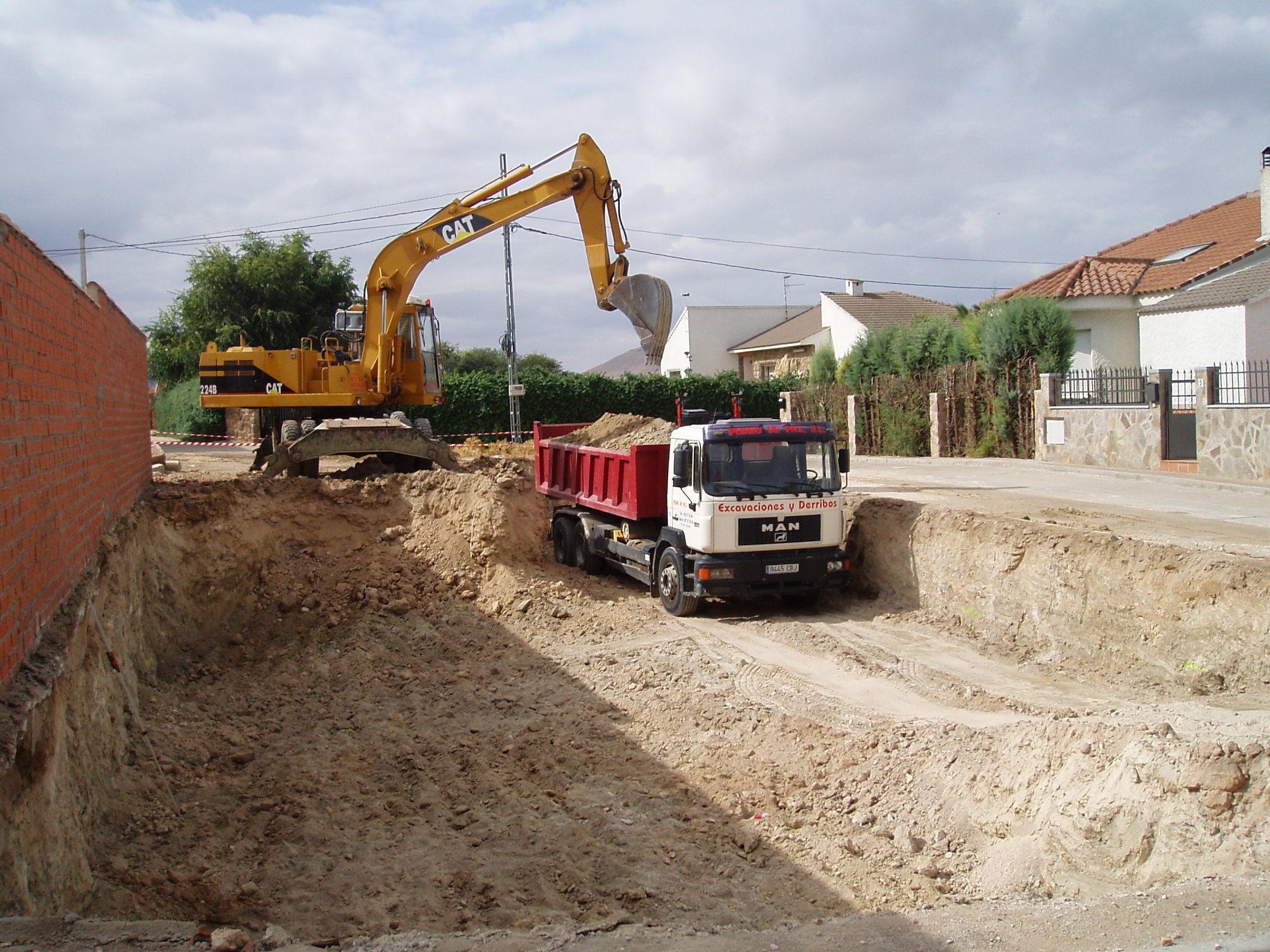 Vaciados de tierras: Trabajos y Maquinaria de Excavaciones Pedro de Paz