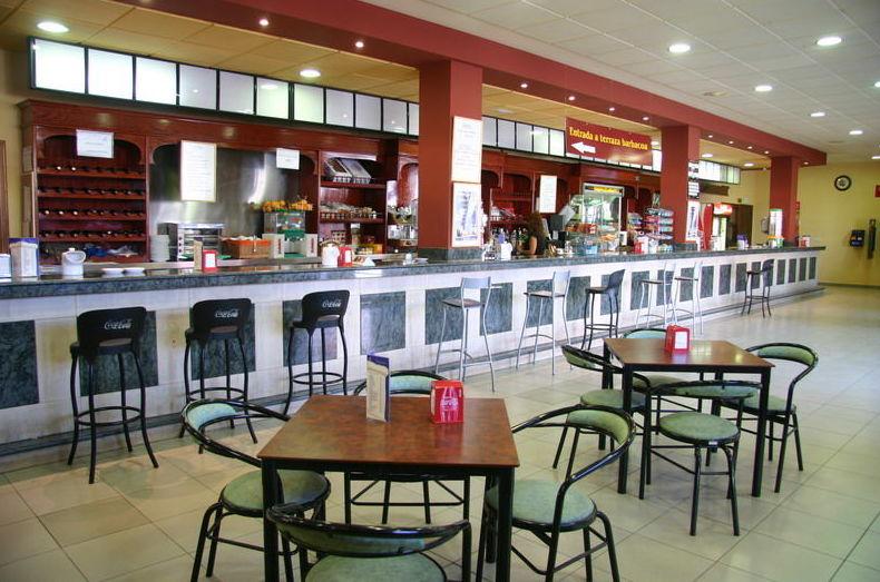 Cafetería del área de servicio