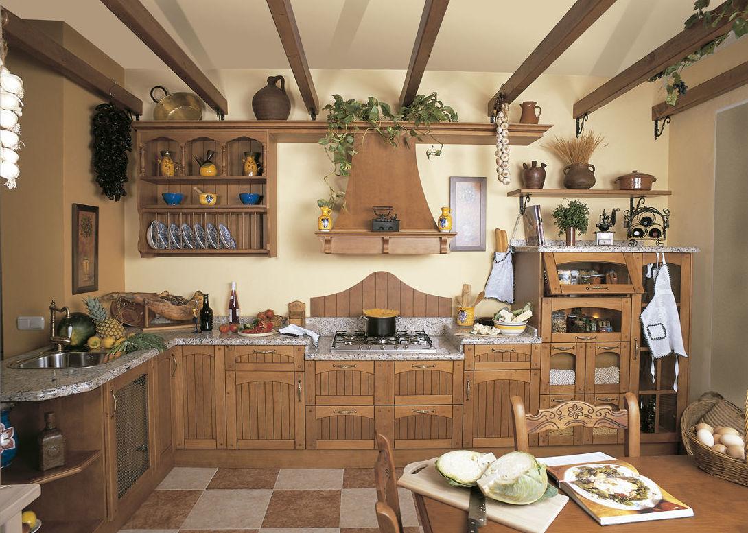 muebles de cocina en madera estilo clsico modelo doana