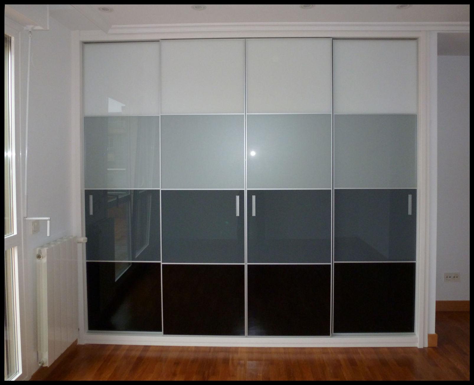 Armarios con frente de cristal espejo - Armarios con puertas de cristal ...