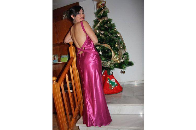 Vestido de fiesta con espalda al aire