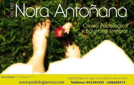 Nora Antoñana, podología en Errentería