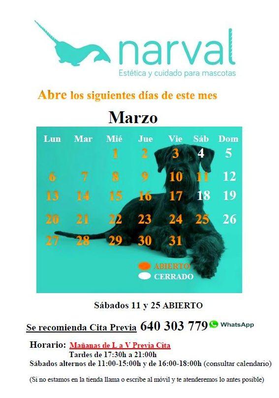 CALENDARIO MARZO 17
