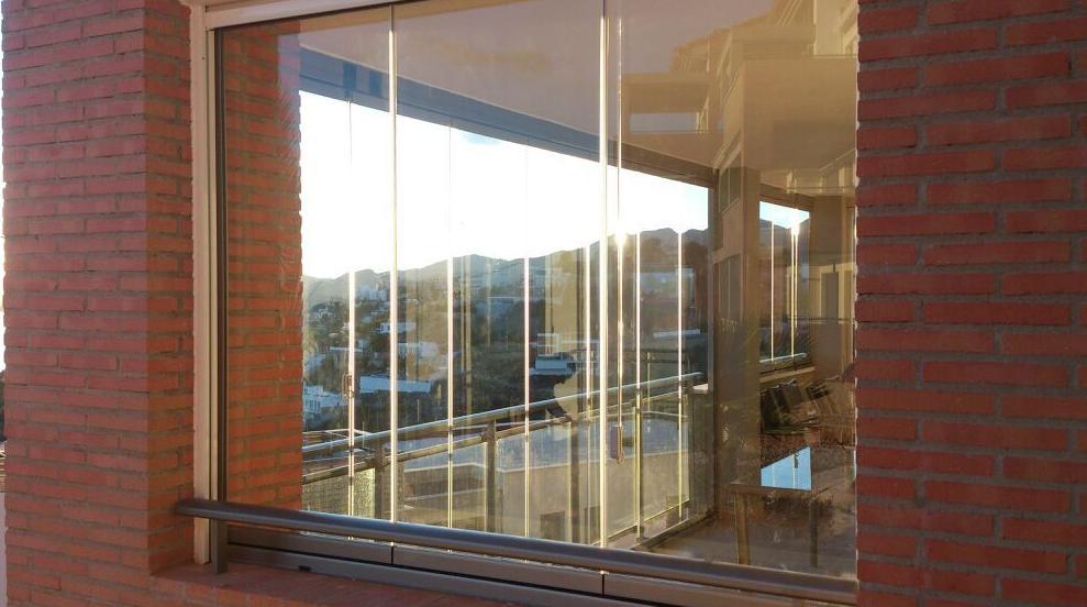 Cortina de cristal y cortina screen para exteriores