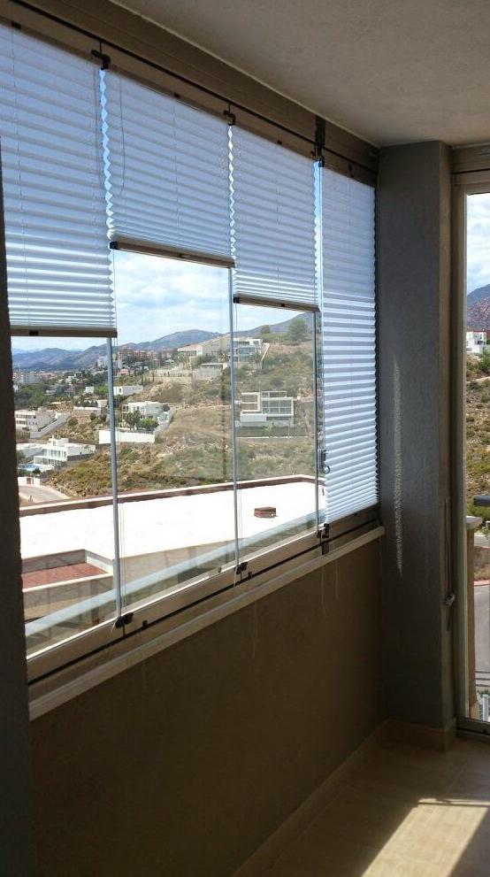 Cortinas plisadas para cortinas de cristal