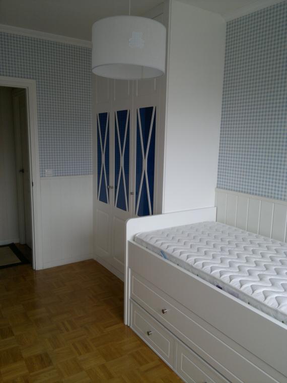 habitacion juvenil lacada blanca foto