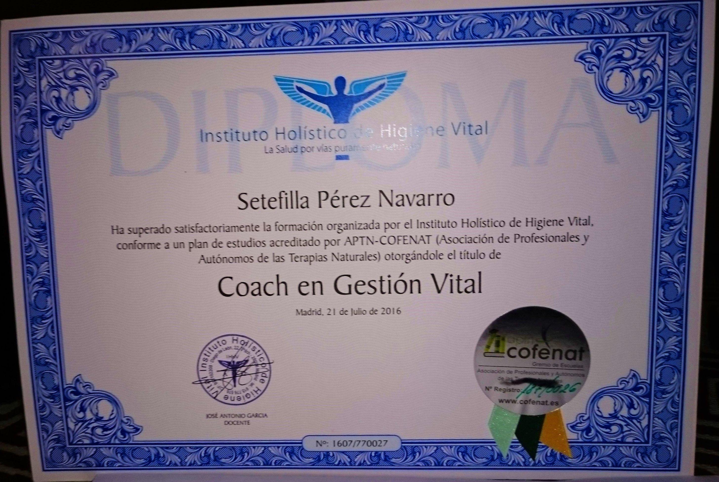 Título de Coach en Gestión Vítal en Sevilla