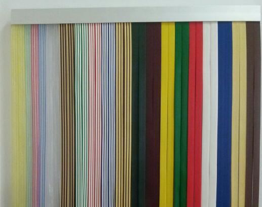 cortina de cintas bicolor