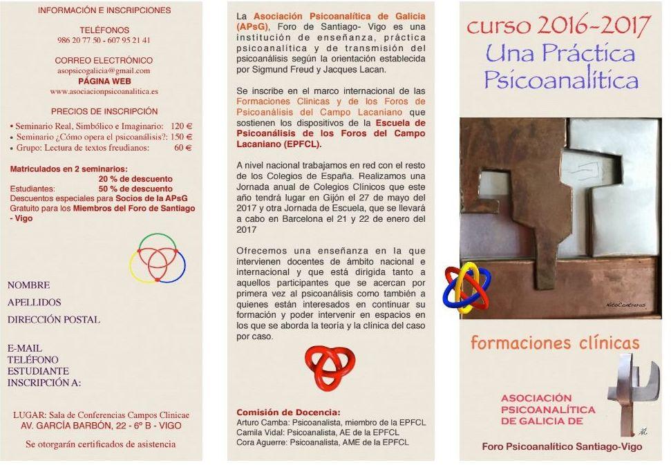 Cursos y Seminarios: Especialidades y Cursos  de Centro Psicoanalítico de Vigo