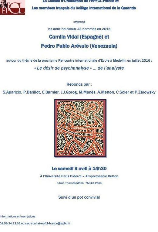Camila Vidal en L'Univeristé París Diderot - 9 Abril 2016
