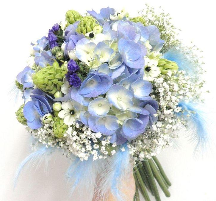 ramo hortensia azul
