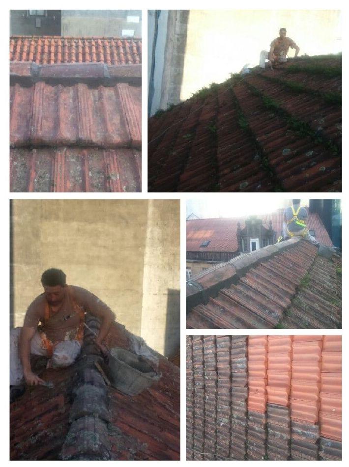 Limpieza y restauración de tejado.