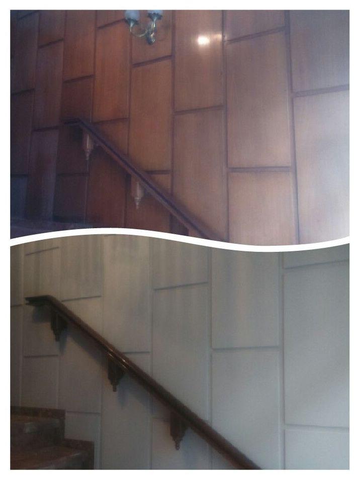 Pintado de madera. (restauración de madera en mal estado dándole una imagen más actual)