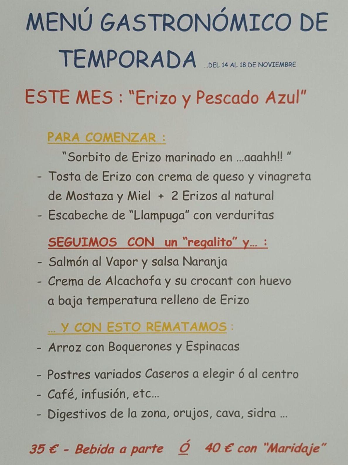 Menú gastronomico Denia|Restaurante mena