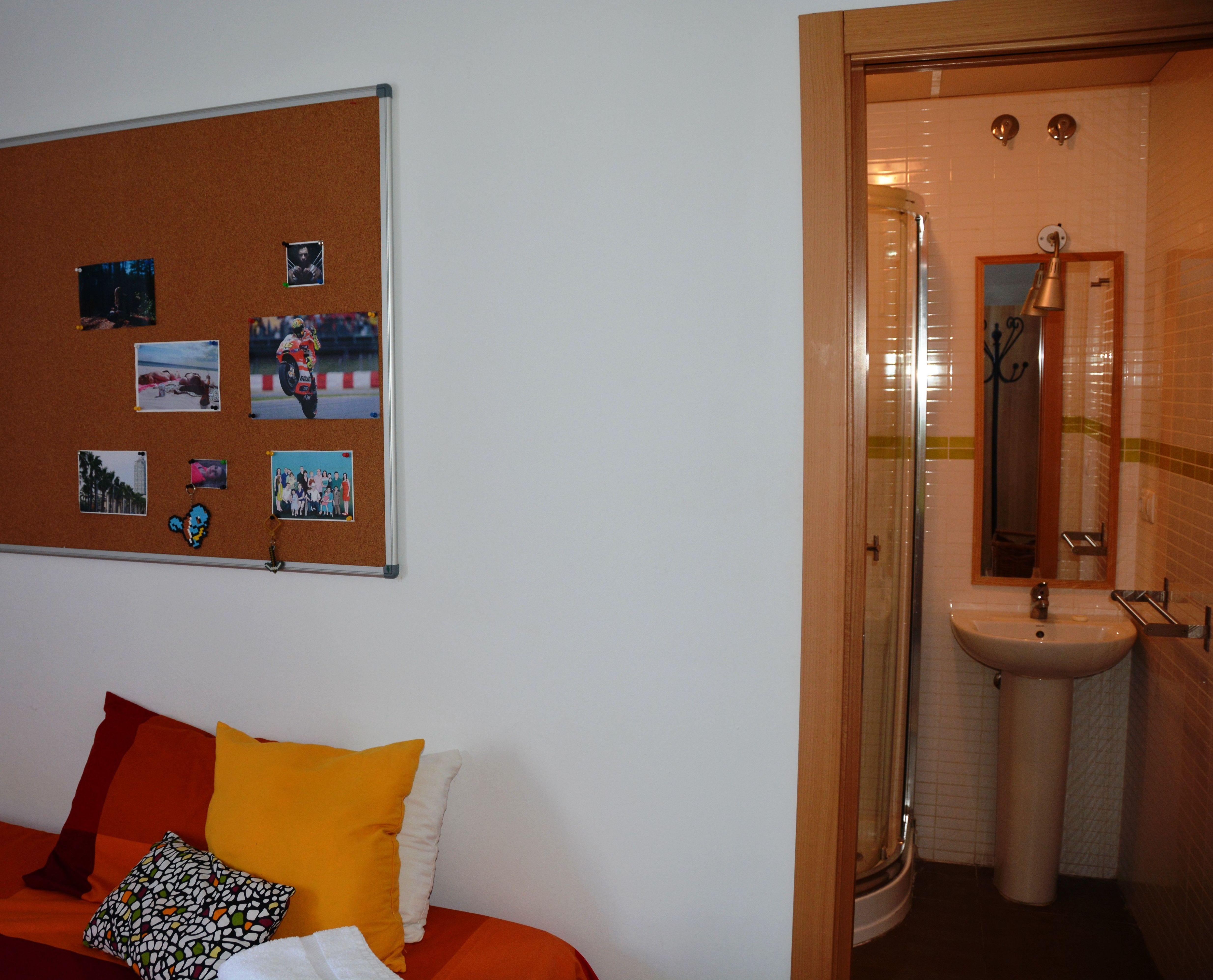 Detalle de nuestras habitaciones con baño interior.