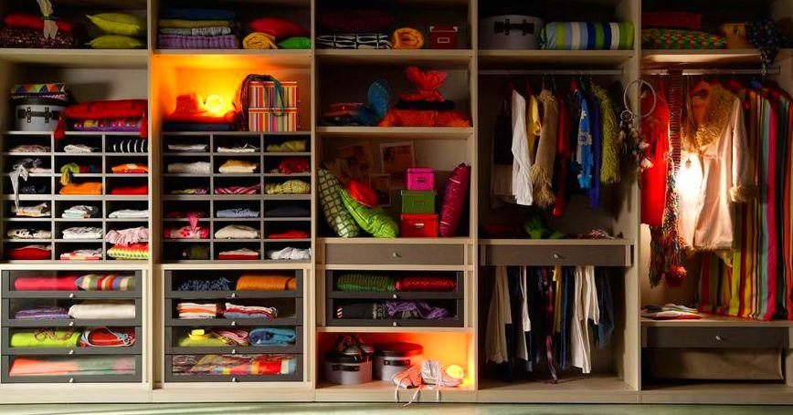 Como distribuir tu armario o vestidor a medida - Como distribuir armario empotrado ...