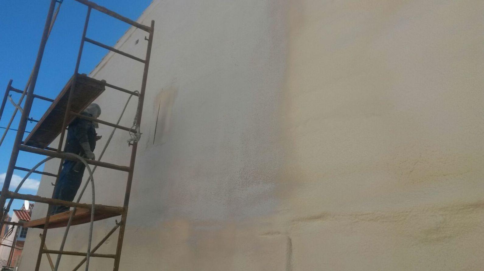 Después de la proyección de espuma rígida de poliuretano