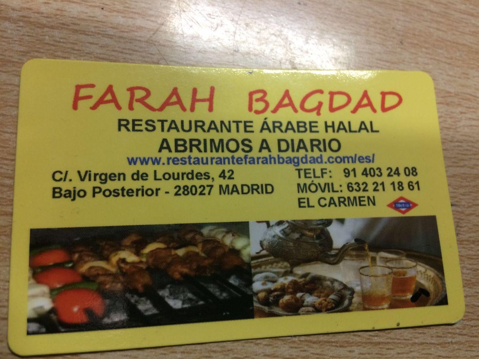 Restaurante Farah Bagdad Madrid