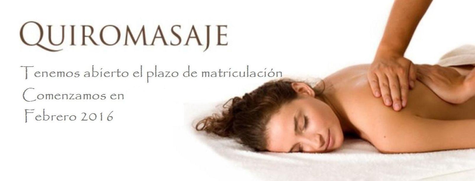 Curso de Quiromasaje, reserva tu plaza