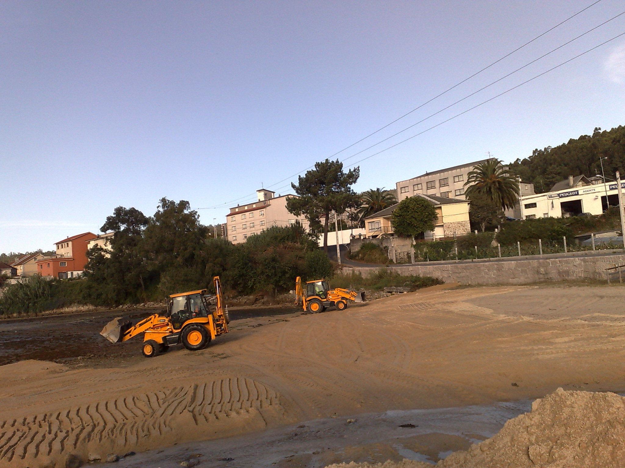 extendido de arena el playa de a Seca-POIO.