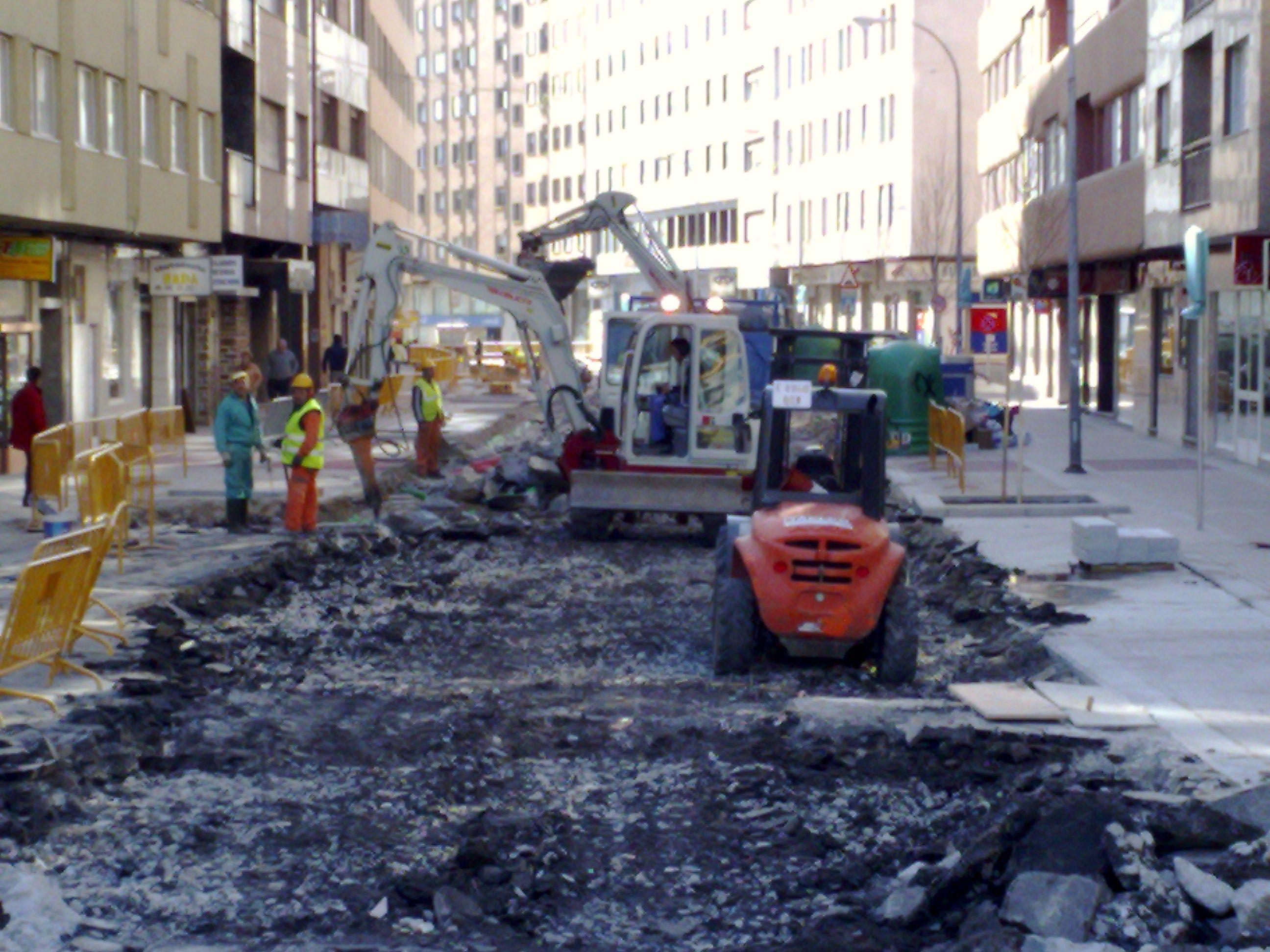 demolicion de la c/ paseo Colon-Pontevedra