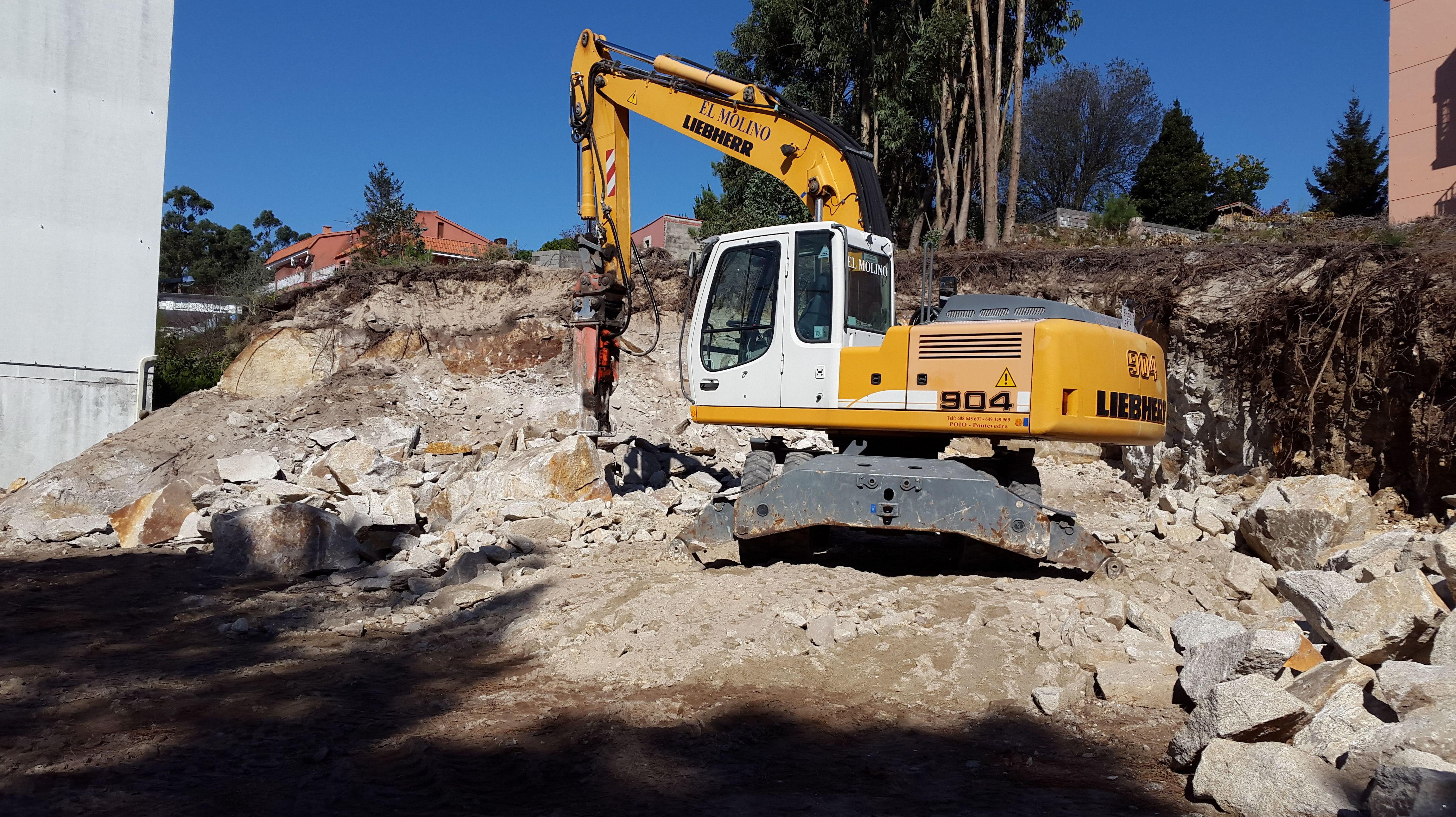 excavacion en roca en lourido - Poio