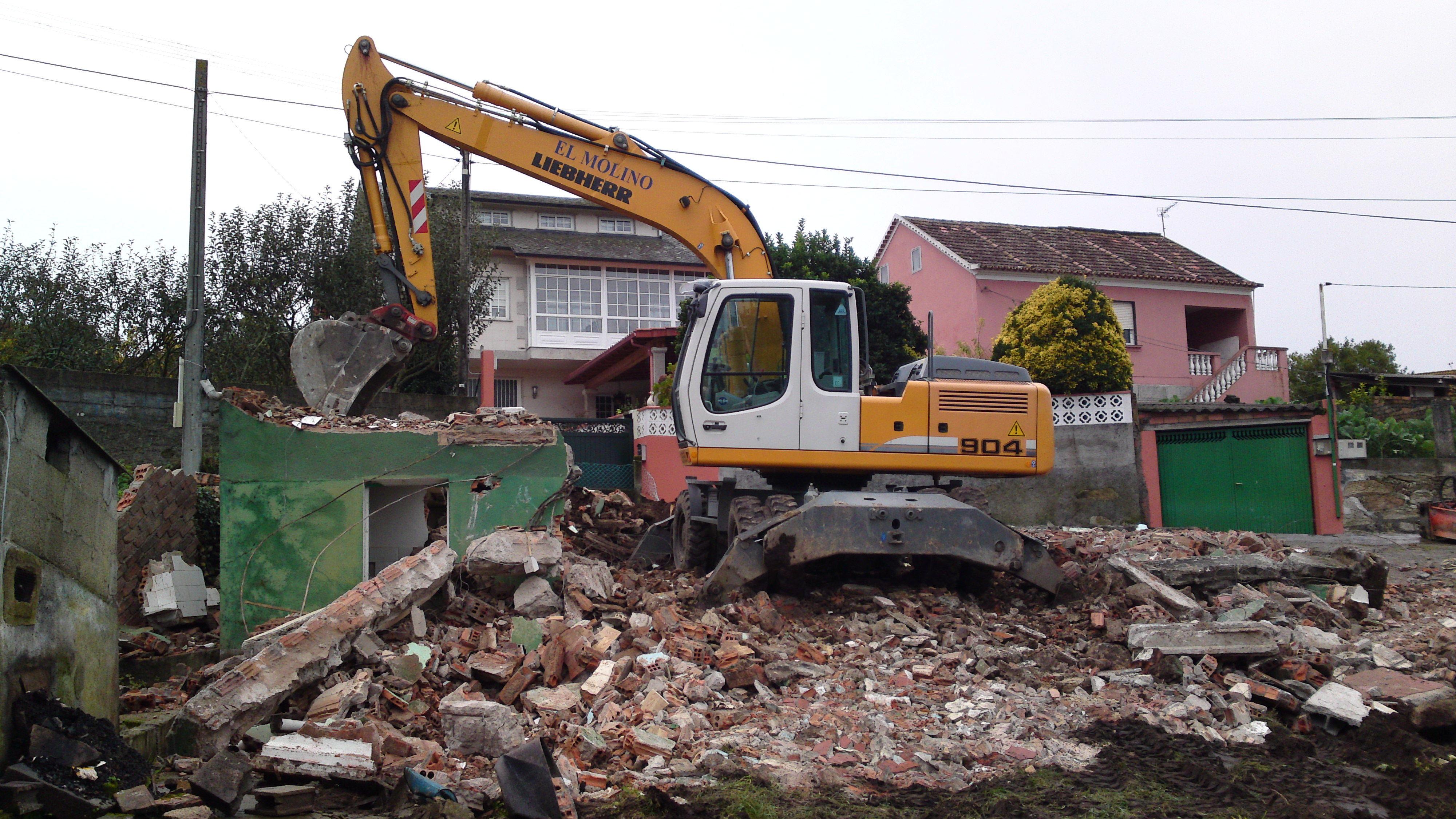 demolicion de vivienda en os cunchidos(marin)