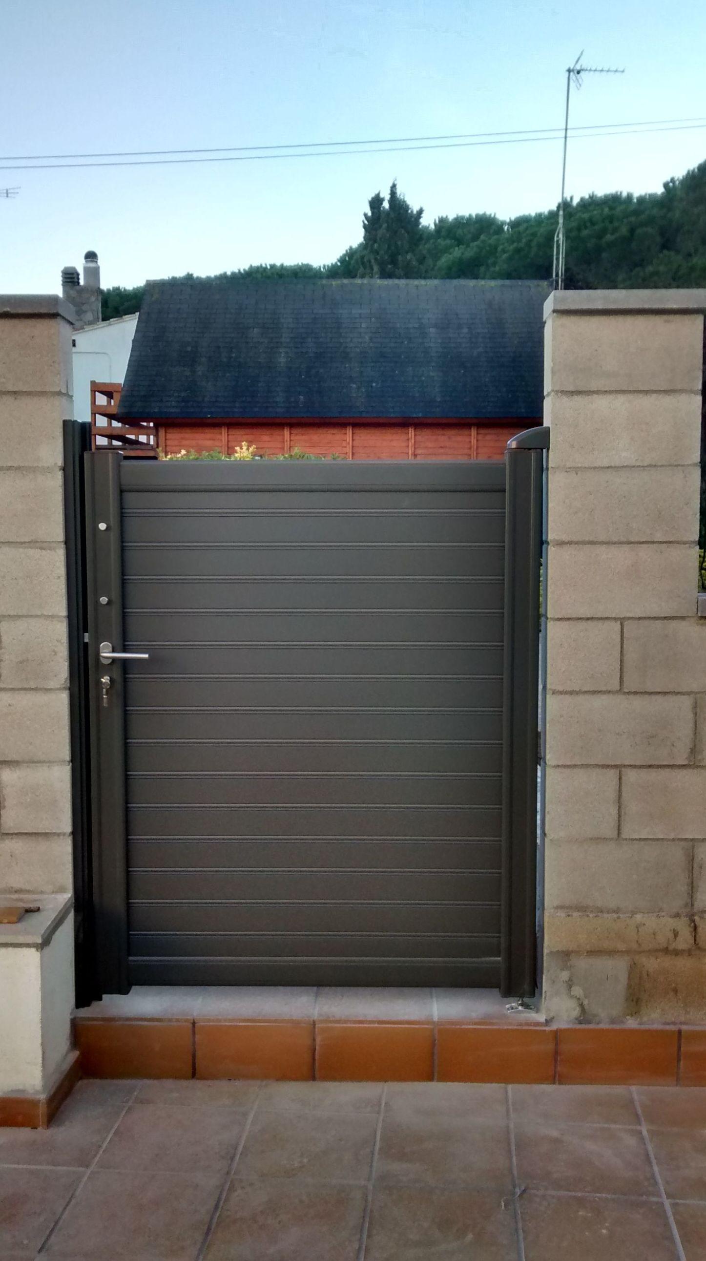 puertas de jardin metalicas materiales de construcci n