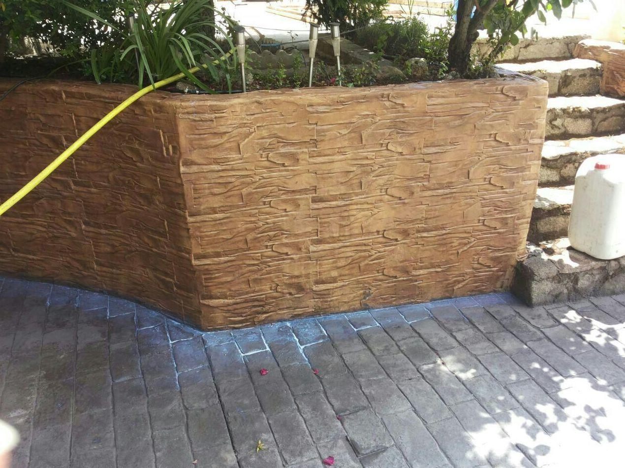 Hormigon impreso madrid sur transportes de paneles de madera for Hormigon impreso paredes